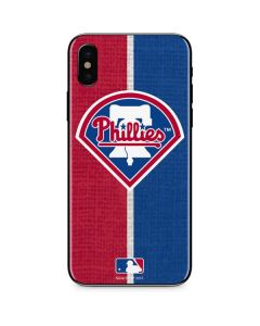 Philadelphia Phillies Split iPhone X Skin