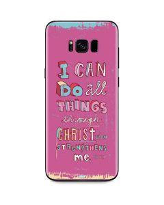 Philippians 4:13 Pink Galaxy S8 Skin