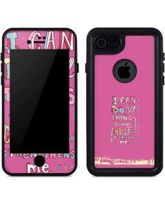 Philippians 4:13 Pink iPhone 7 Waterproof Case