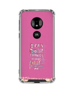 Philippians 4:13 Pink Moto G7 Play Clear Case