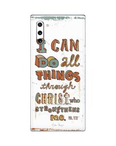 Philippians 4:13 White Galaxy Note 10 Skin