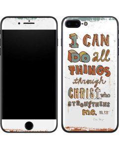Philippians 4:13 White iPhone 7 Plus Skin