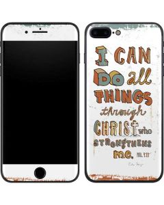 Philippians 4:13 White iPhone 8 Plus Skin