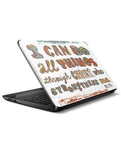Philippians 4:13 White HP Notebook Skin