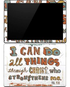 Philippians 4:13 White Surface Pro (2017) Skin