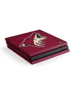 Arizona Coyotes Home Jersey PS4 Pro Console Skin