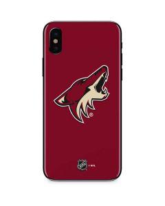 Arizona Coyotes Solid Background iPhone XS Skin