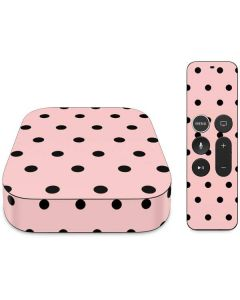 Pink and Black Polka Dots Apple TV Skin