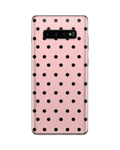 Pink and Black Polka Dots Galaxy S10 Plus Skin