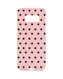 Pink and Black Polka Dots Galaxy S8 Plus Lite Case