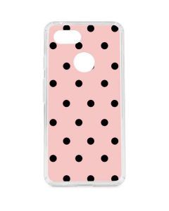 Pink and Black Polka Dots Google Pixel 3 Clear Case