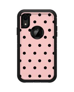 Pink and Black Polka Dots Otterbox Defender iPhone Skin