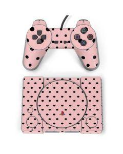 Pink and Black Polka Dots PlayStation Classic Bundle Skin