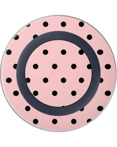 Pink and Black Polka Dots Wireless Charger Skin