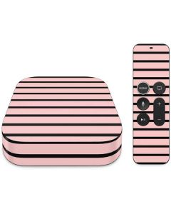 Pink and Black Stripes Apple TV Skin