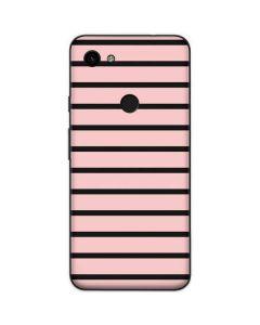 Pink and Black Stripes Google Pixel 3a Skin