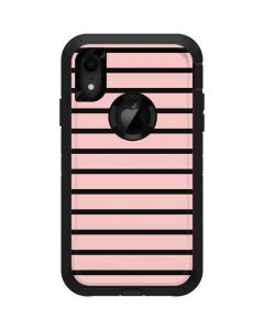 Pink and Black Stripes Otterbox Defender iPhone Skin