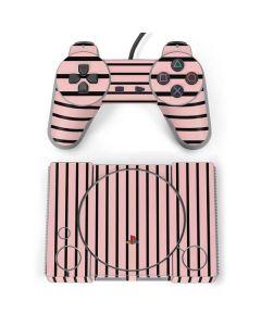 Pink and Black Stripes PlayStation Classic Bundle Skin