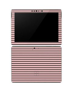 Pink and Black Stripes Surface Go Skin