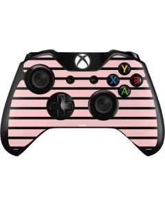 Pink and Black Stripes Xbox One Controller Skin