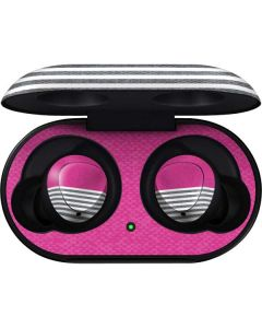 Pink and Grey Stripes Galaxy Buds Skin