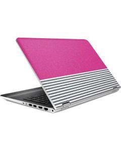 Pink and Grey Stripes HP Pavilion Skin