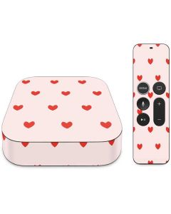 Pink and Red Hearts Apple TV Skin