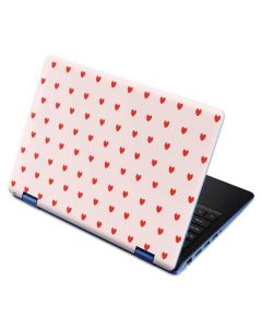 Pink and Red Hearts Aspire R11 11.6in Skin