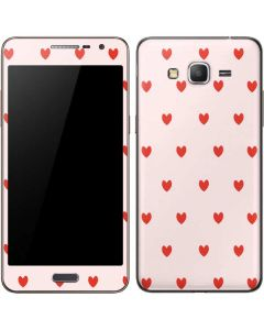 Pink and Red Hearts Galaxy Grand Prime Skin