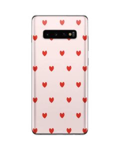 Pink and Red Hearts Galaxy S10 Plus Skin