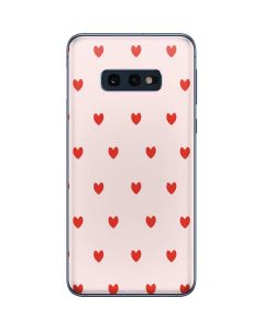 Pink and Red Hearts Galaxy S10e Skin