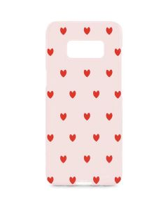 Pink and Red Hearts Galaxy S8 Plus Lite Case