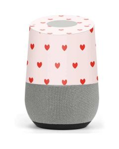 Pink and Red Hearts Google Home Skin