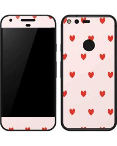 Pink and Red Hearts Google Pixel Skin