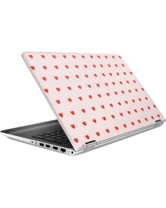 Pink and Red Hearts HP Pavilion Skin