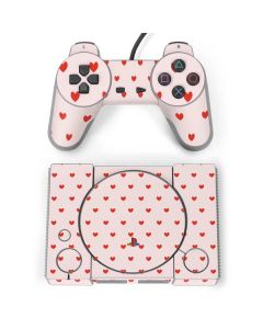 Pink and Red Hearts PlayStation Classic Bundle Skin