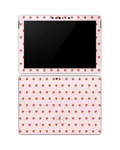 Pink and Red Hearts Surface Go Skin