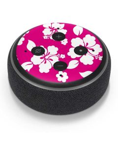 Pink and White Amazon Echo Dot Skin