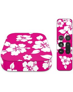 Pink and White Apple TV Skin