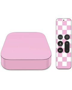 Pink and White Checkerboard Apple TV Skin