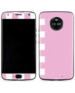 Pink and White Checkerboard Moto X4 Skin