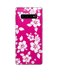 Pink and White Galaxy S10 Plus Skin