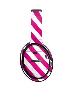 Pink and White Geometric Stripes Bose QuietComfort 35 Headphones Skin