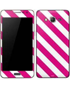Pink and White Geometric Stripes Galaxy Grand Prime Skin