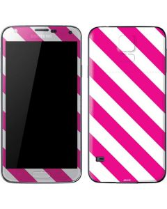 Pink and White Geometric Stripes Galaxy S5 Skin