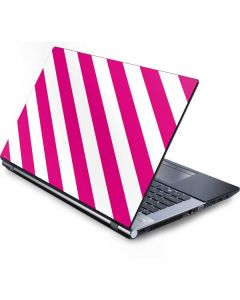 Pink and White Geometric Stripes Generic Laptop Skin