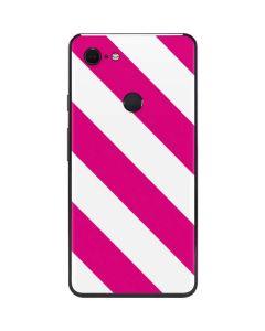 Pink and White Geometric Stripes Google Pixel 3 XL Skin