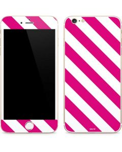 Pink and White Geometric Stripes iPhone 6/6s Plus Skin