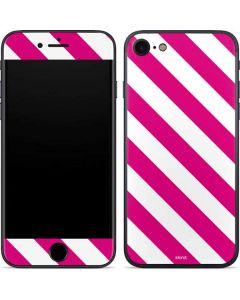 Pink and White Geometric Stripes iPhone 7 Skin