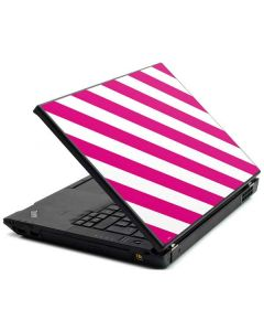 Pink and White Geometric Stripes Lenovo T420 Skin